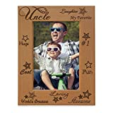 KATE POSH - My Awesome, Cool, Favorite Uncle Engraved Picture Frame, Best Uncle Ever Gifts (4x6 Vertical)