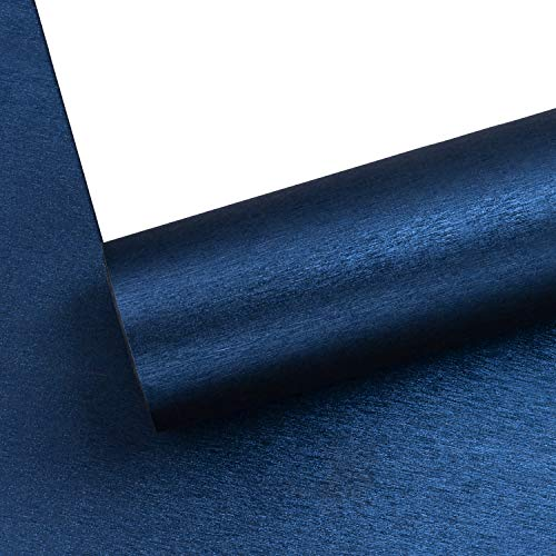 WRAPAHOLIC Wrapping Paper Roll - Navy Blue with Metallic Shine for Birthday, Holiday, Wedding, Baby Shower Wrap - 30 inch x 33 feet