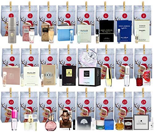 Parfum Adventskalender - Parfum Eau de Toilette & Eau de Parfum Miniaturen/Proben + 24x Geschenktütchen - Mit Raritäten, sehr selten ! - Variante 16