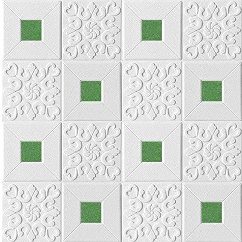 Piedra de Ladrillo Paneles de Pared Autoadhesivos Papel tapiz de techo estéreo 3D Auto adhesivo Techo Etiqueta de pared Etiqueta engomada de espuma Panel Sala de estar Casa Decoración Dormitorio TV Ki