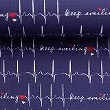 Doppelmoppel Baumwollstoff EKG Stoff Krankenhaus