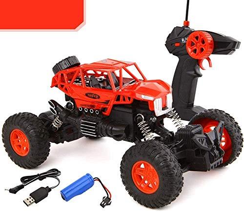 wangch All-Terrain RC Buggy 2.4GHz 2WD Potente 1:18 Racing Stimbing Car Radio eléctrico Reptile Coche Off-Road Juguete Coche Niños (Color : Rojo)