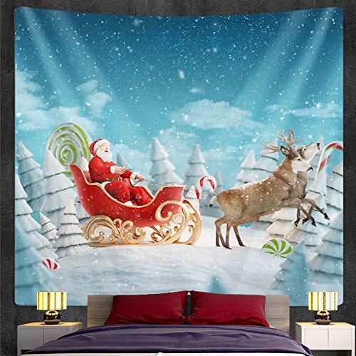 PPOU Home Art Deco Sfondo Stoffa Albero di Natale Arazzo da Parete Supporto da Parete Bohémien Mandala Supporto da Parete per Coperta A13 180x200cm