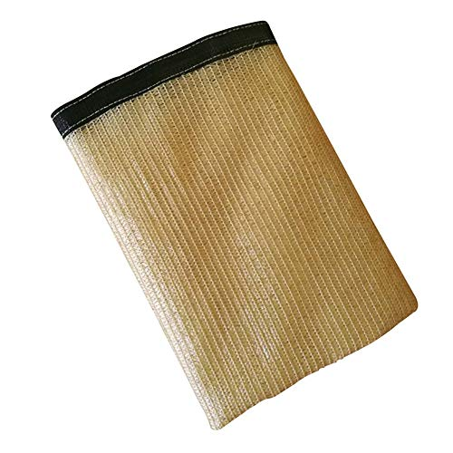 LRZLZY Pantalla de Tela de sombreado Neto Sombra Protector Solar Pergola Cubierta Negro Borde de cifrado del Agujero del Metal de la Hebilla de Polietileno, 16 Tamaños Respetuoso del Medio Ambiente