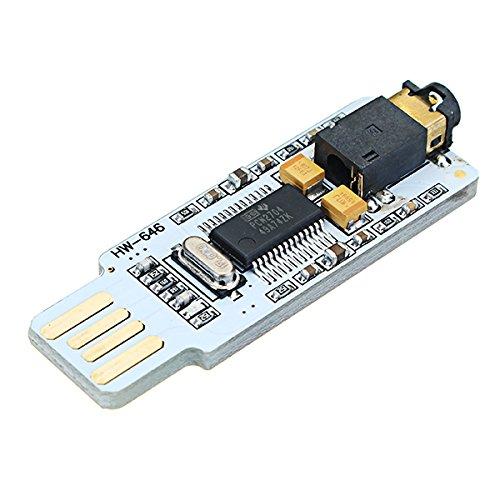 ランフィー PCM2704 DC 5V 40dB USBオーディオサウンドカードDACデコーダボードコンピュータ用PCラップトップ用フリードライブサウンドカードボードモジュール