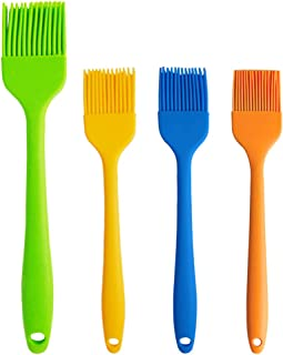 4 Pcs Basting Brush Silicone Heat Resistant Pastry Brushes Spread Oil Butter Sauce Marinades for BBQ Grill Barbecue Baking Kitchen Cooking, Baste Pastries Cakes Meat Desserts