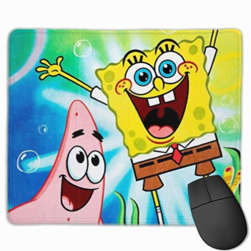 Cute Mouse Pad for Laptop Computer Non-Slip Small Home Travel Mouse Pads for Man Women-Spongebob