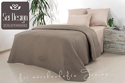 sei Design Tagesdecke - Royal | Wendedecke, Überwuft | Trendige Farbe, Moderne Steppung & Hochwertige Gestickte Applikation | 220x240 cm