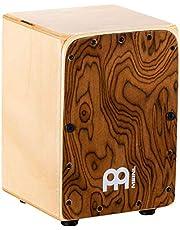 Meinl Percussion Mini Cajon Box Drum met interne snares — GEMAAKT IN EUROPA — Burl Wood/Baltic Berk, Miniatuur Size, 2 JAAR GARANTIE (MC1BW)