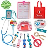 Product Image of the Tresbro Doctor Kits for Kids, Wooden Dentist Tool Toys for Toddlers, Boys &...