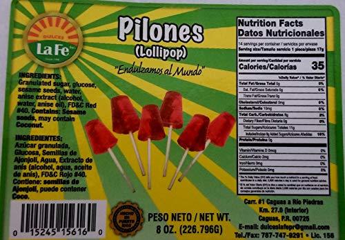 Lolipops (Pilones) By Fabrica De Dulces La Fe (12-18 Pieces) 8 Oz Pack
