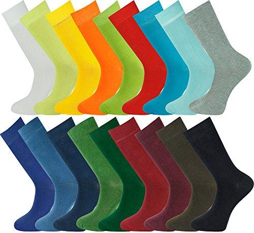 Mysocks® Bulk Buy Lot de 18 paires de chaussettes unies pour homme