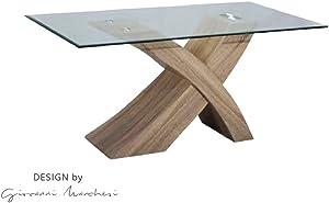 giovanni marchesi design Table DE Repas Argos Chene Clair Dessus Verre
