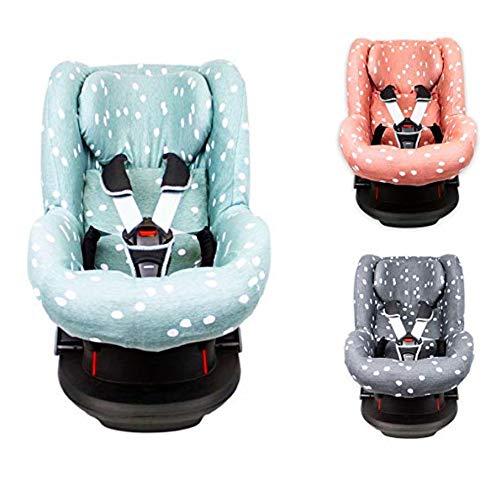 Briljant Baby 2in1 Sitzbezug ** UNIVERSAL Schonbezug 3 und 5 Punkt Gurt System ** Maxi Cosi TOBI + Sitze der Gr. 1 wie z.B. Maxi-Cosi Priori/SPS/XP, Römer King/TS/Duo etc. (Stone Green)