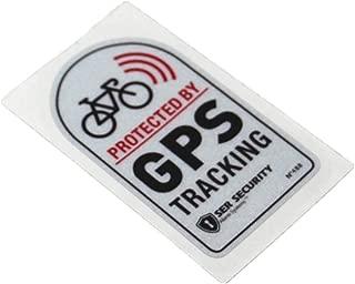 Langersun 2PCS Car Stickers Warning GPS Tracker Alarm Bike Protected Motorbike Bumper 7x4cm (A)