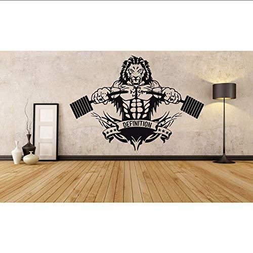 Adesivo Murale Yoyoyu Sports Lion Room Tion Crossfit Fitness Club Palestra Poster Di Qualsiasi Dimensione Design Poster Rimovibile Murale 56 * 80 Cm