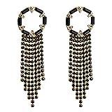 Design Rhinestone Chain Tassel Dangle Earrings For Women Fashion Accessories Trendy Collection Earrings-C