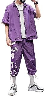 Mogogo Mens Athletic Summer Short Sleeve 2 Piece Set Casual Sports Suit