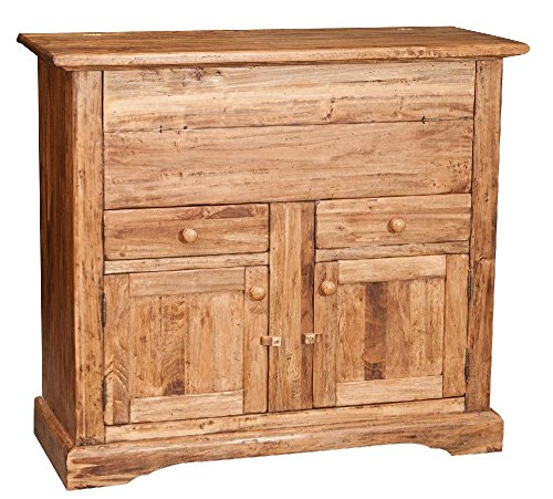 Madia in legno massello di tiglio finitura naturale 115x48x102 cm