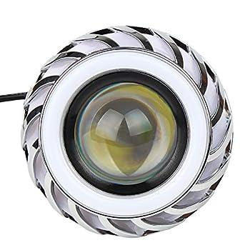 Andux Land Angel Devil Eyes Motorcycle/Car Hi/Low Beam LED Projector Headlight EMY-03  Pink/Blue Halo