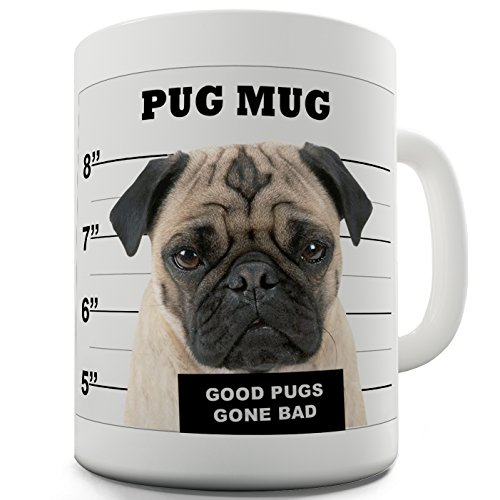 Twisted Envy Pug shot in ceramica a forma di tazza