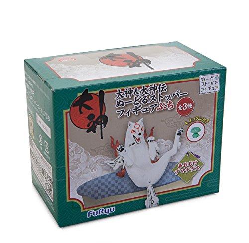 """Furyu 3.9"""" Okami: Amaterasu Noodle Stopper Figure Petit (Roll Over)"""