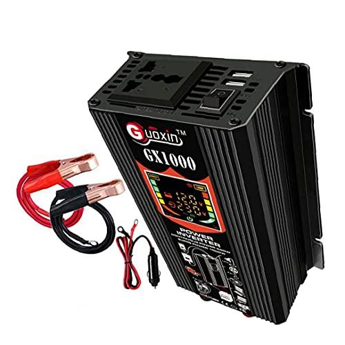 500W de potencia del inversor 12V DC para adaptador de enchufe de CA del inversor 220V coche de onda sinusoidal pura del convertidor de energía, transmisor