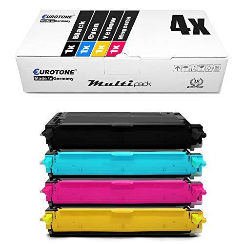 4x Eurotone Cartuccia Toner per Epson Aculaser C 2800 DN N DTN sostituisce S051158 - S051161 tutti i colori