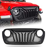 Modifying Gladiator Grill Mesh Grille, Compatible with Jeep Wrangler JL 2018 2019 2020 2021 - Matte Black