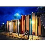 Reiichi 5d Diy Diamond Painting Artistic Street Scenatery Moderno Home Wall Art Foto Completa Cuadrado Diamante Bordado Redondo Diamondz 50x75cm NoFramed