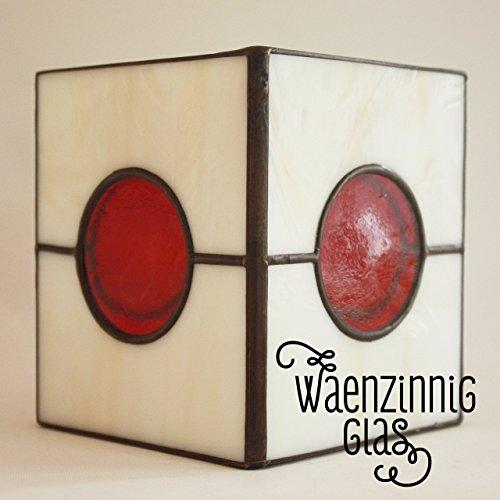Windlicht Roter Mond,Tiffany Kerzenhalter, Zen Windlicht