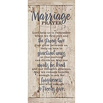 Marriage Prayer Wood Plaque Inspiring Quote 5.5x12 - Classy Vertical Frame Wall Hanging Decoration | Lord Help us to Remember When we First met | Christian Family Religious Home Decor Saying