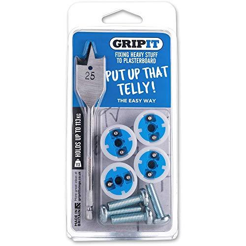 Grip-it TV-Halterung für Gipskartonplatten