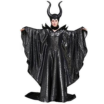 CosplayDiy Women s Costumes of Maleficent Angelina Jolie Dark Witch Queen Dress M Black