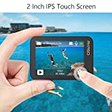 AKASO Action cam /Unterwasserkamera 4K Wifi 40M EIS Anti-Shake Action Kamera 4X Zoom mit Touchscreen, Fernbedienung, Sportkamera wasserdicht Gehäuse ,Helmzubehör-Kit V50X