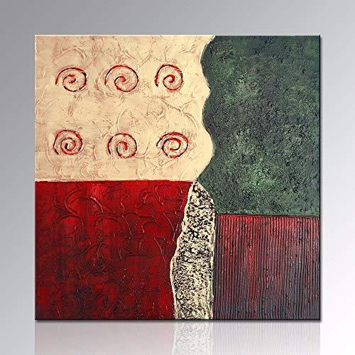 yaoxingfu Rahmenloses Öl 1 Tafel Moderne zeitgenössische Kunst auf Rahmenlos strukturierter Leinwand 30x40cm