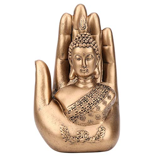 Oumefar Buddha Figurine Household Resin Buddha Hand‑Made Yoga Rooms Hotels Collection Gifts for Living Rooms Bedrooms Libraries