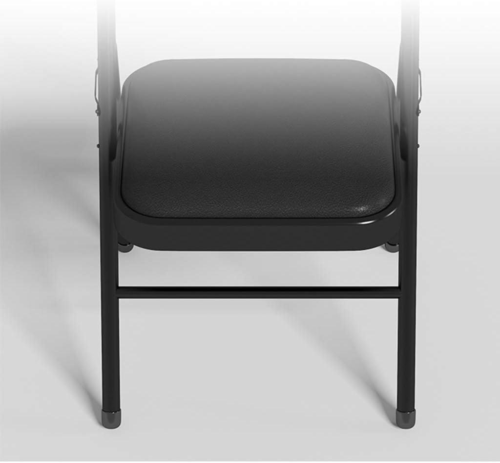LISA Chaise Pliante, Chaise Pliante en Cuir Artificiel à Manger à Domicile, Chaise D'ordinateur Portable, 47x45x78cm B