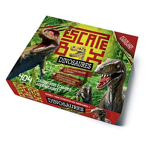 Escape Box Dinosaures - Escape game enfant de 2 à 5 joueurs - De 8 à 12 ans