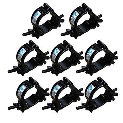 Heavy Duty 2 Inch O Stage Light Hook Clamp/Moving Head Light Par Light Spotlight Truss Kit/Aluminum Alloy Finish/Wrap Around Clamp
