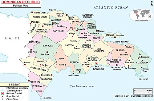 Dominican Republic Political Map - Laminated (36