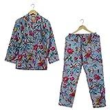 iinfinize Camisón de algodón para mujer, pijama, ropa de dormir, ropa de noche, batas de algodón, pijama de salón, talla XXL