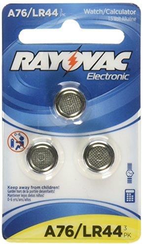 Rayovac 3-pk. A76 LR44 Button-Cell Alkaline Batteries