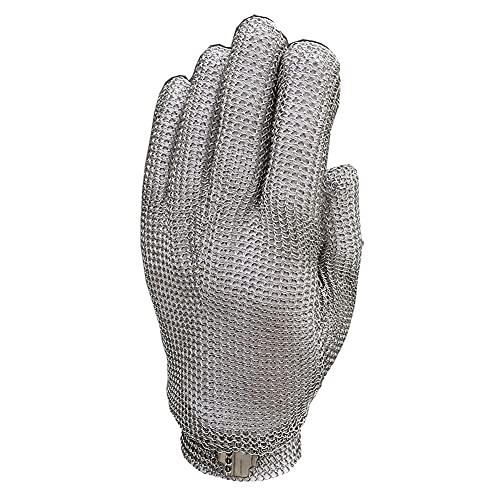 Guante de protección de malla de acero inoxidable 304L resistente a los cortes para la cocina, carnicero, seguridad de trabajo (talla XXL)