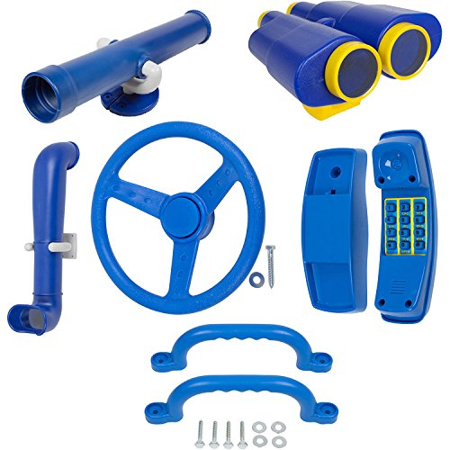 Swing Set Stuff Deluxe Accessories Kit SSS Logo Sticker Playground, Blue