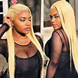 DACHIC 613 Blonde Lace Front Human Hair Wigs 13x4 Brazilian Straight Human Hair Wigs for Women Pre Plucked With Baby Hair 150% Density (22 Inch, 613 Color)