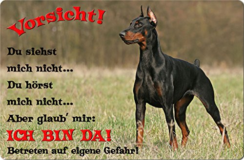 +++ DOBERMANN - Metall WARNSCHILD Schild Hundeschild Sign - DBM 29 T2