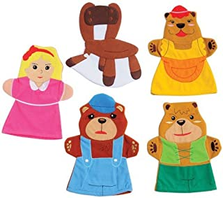 Constructive Playthings SVL-463 Goldilocks & 3 Bears Storytelling Hand Puppets, Grade: Kindergarten to 3, Age: 9