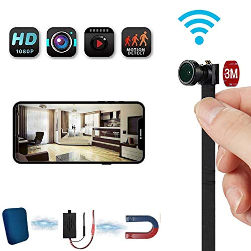 Hidden Nanny CAM, WiFi Spy CAM 4K Video, Admite Detección De Movimiento Y Visión Nocturna, Cámara Flexible Inalámbrica Tiny 4-6 Horas De Tiempo De Trabajo, para Seguridad En El Hogar,16g