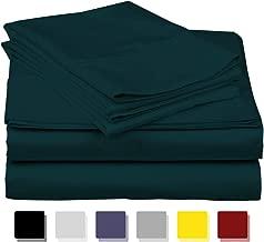 Thread Spread True Luxury 100% Egyptian Cotton - Genuine 1000 Thread Count 4 Piece Sheet Sets - Fits Mattress Upto 18'' Deep Pocket California King Green CO-1000TC-CALK0-TEAL